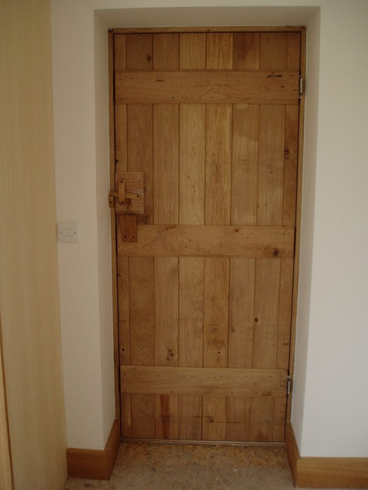 Oak Door Back