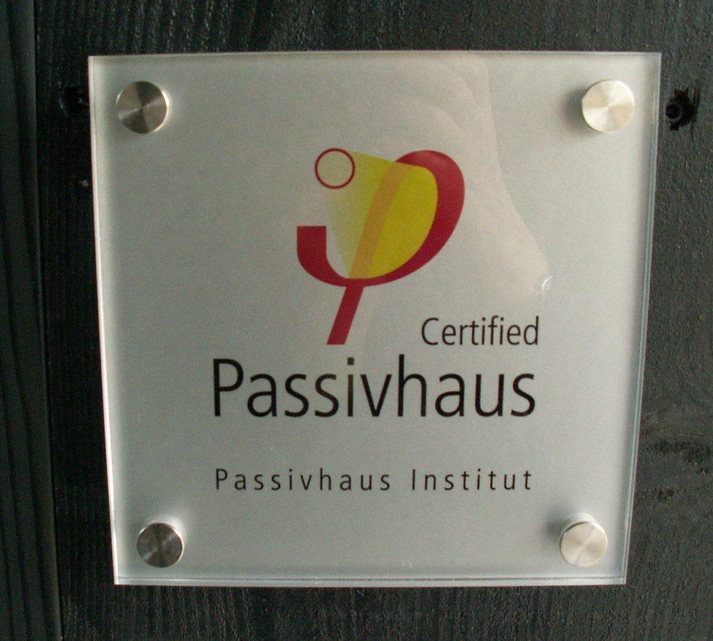 PassivHaus Plaque